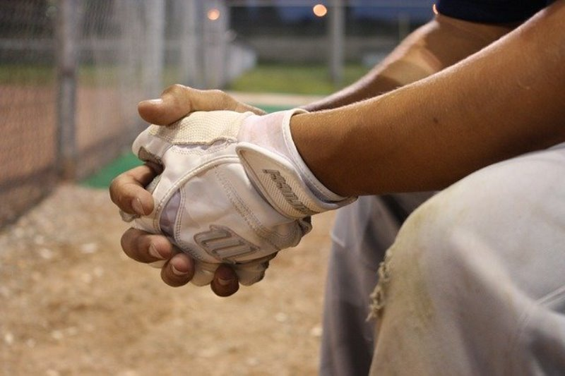 baseball field - player